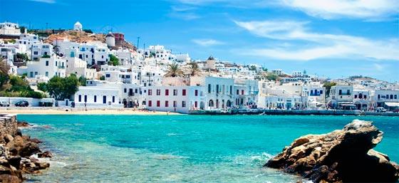 Turismo en Mykons y otras islas griegas