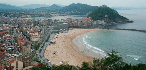 San Sebastián playa Zurriola y sus costas